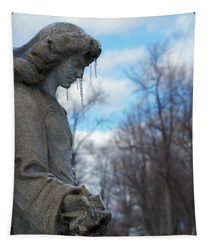 Stone Angel Tapestry featuring the photograph Angel Ice by Gothicrow Images