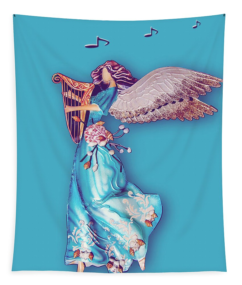 Angel Tapestry featuring the photograph Angel Music by Leticia Latocki
