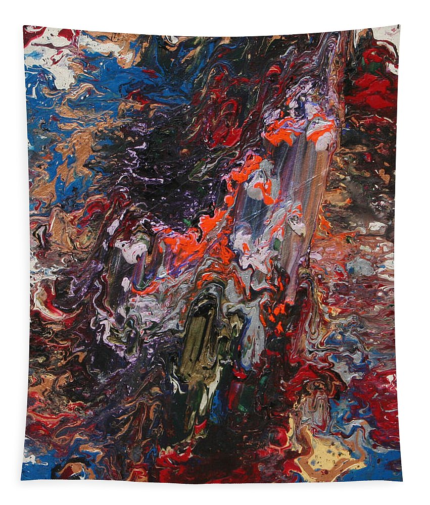 Fusionart Tapestry featuring the painting Angel Rising by Ralph White
