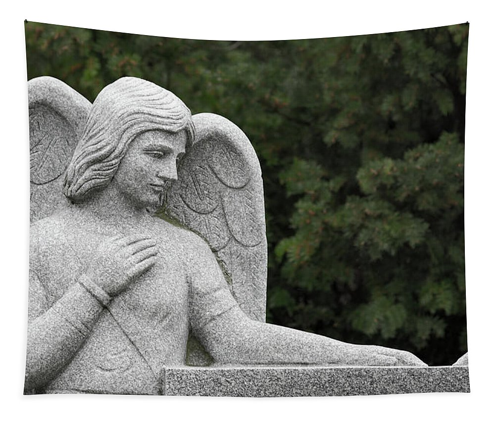 Angel Watching Over Me Tapestry featuring the photograph Angel Watching Over Me by Dale Kincaid