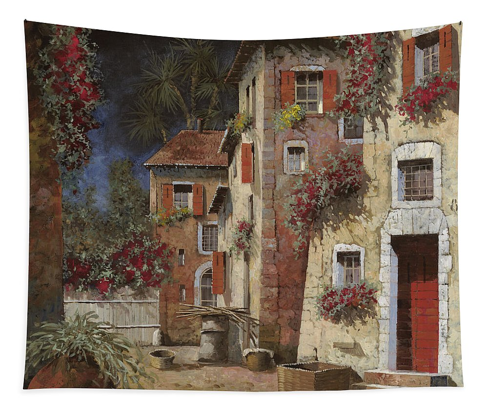 Night Tapestry featuring the painting Angolo Buio by Guido Borelli