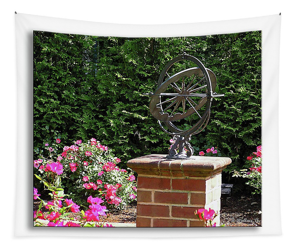 2d Tapestry featuring the photograph Annapolis Garden Ornament by Brian Wallace