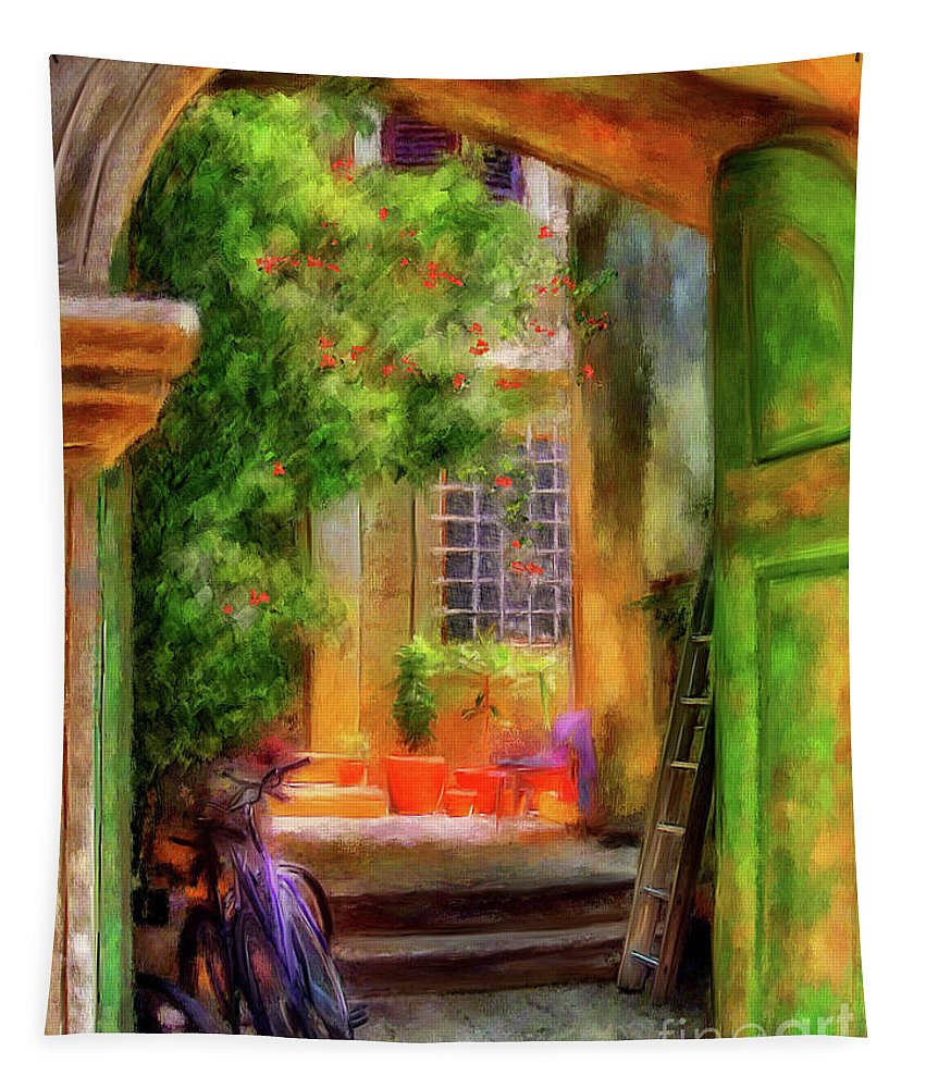 Doorway Tapestry featuring the digital art Another Glimpse by Lois Bryan
