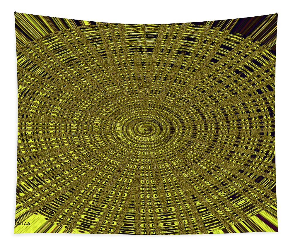 Ant Nest Abstract Fabric Design # 2 Tapestry featuring the digital art Ant Nest Abstract Fabric Design # 2 by Tom Janca