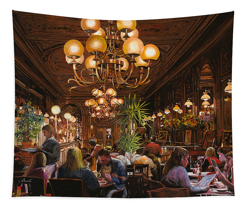 Brasserie Tapestry featuring the painting Antica Brasserie by Guido Borelli