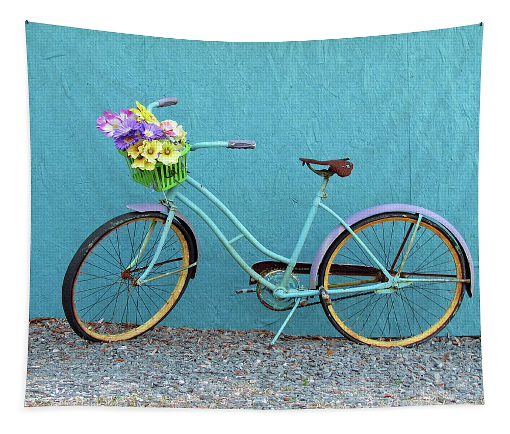 Bike Tapestry featuring the photograph Antique Bicycle by Cynthia Guinn