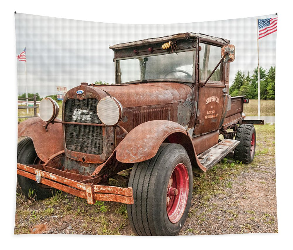 Antique Tapestry featuring the photograph Antique Ford by Phyllis Taylor