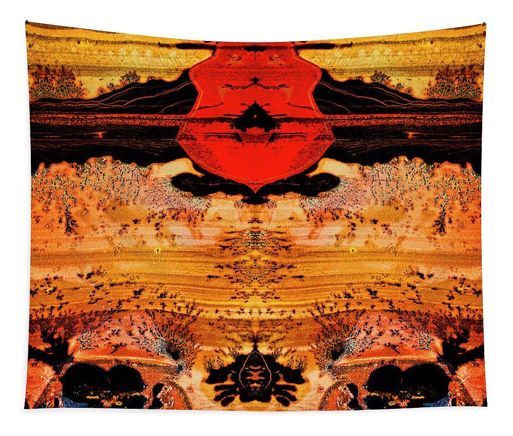 Macro Tapestry featuring the photograph Apache Picture Jasper by Robert Storost