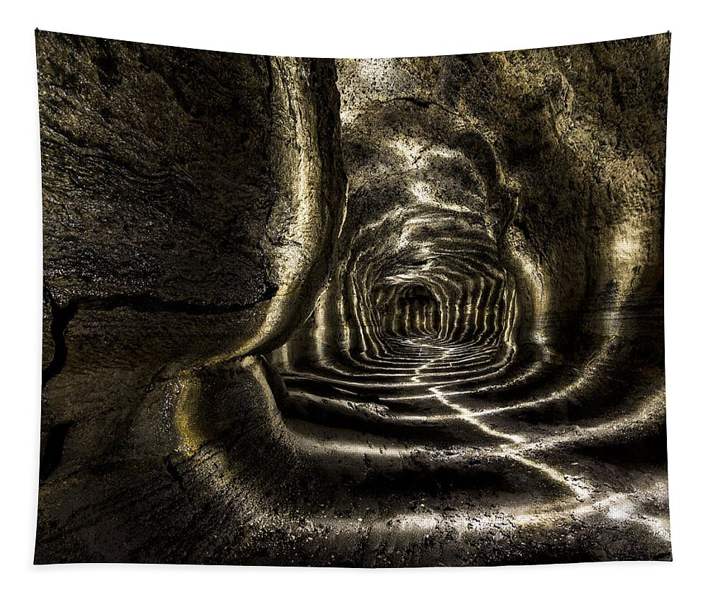 Ape Cave Tapestry featuring the photograph Ape Cave by Jean Noren