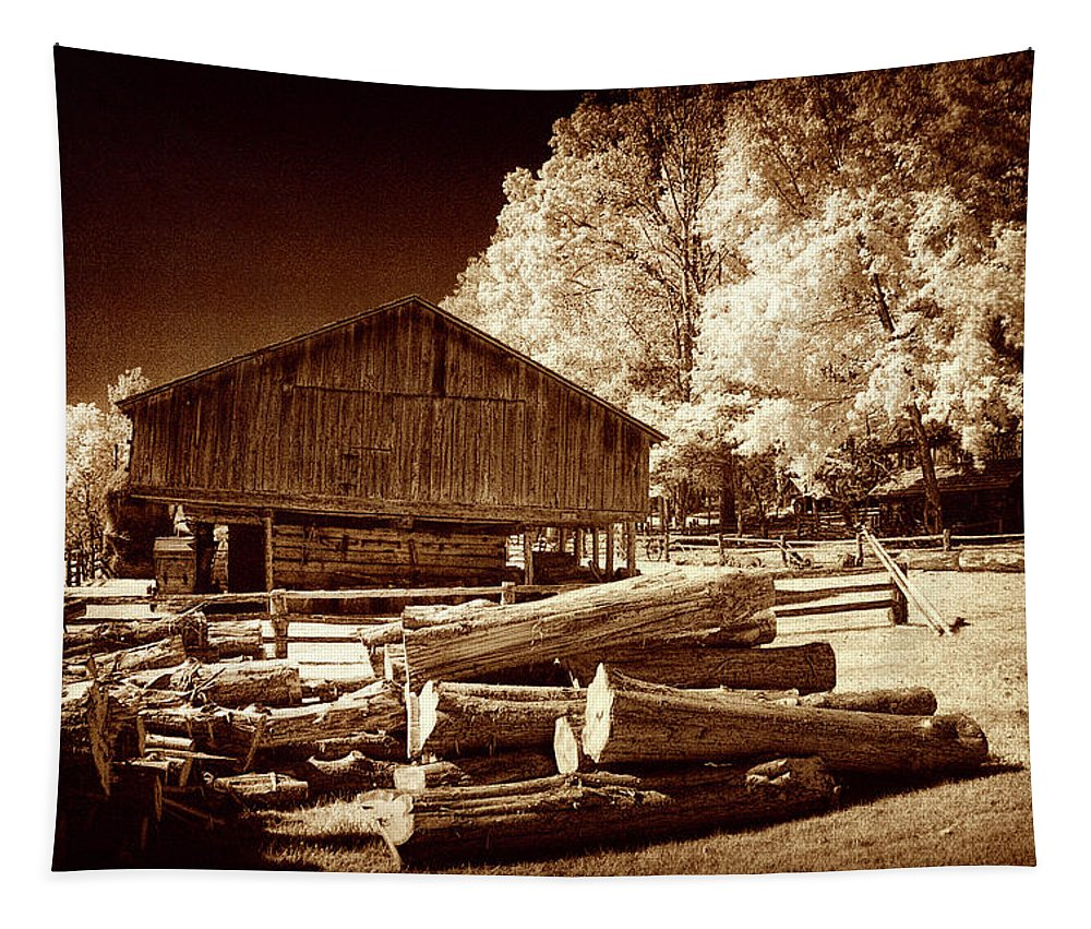 Appalachians Tapestry featuring the photograph Appalachian Saw Mill by Paul W Faust - Impressions of Light