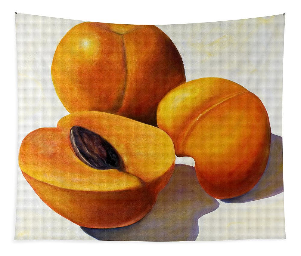 Apricots Tapestry featuring the painting Apricots by Shannon Grissom