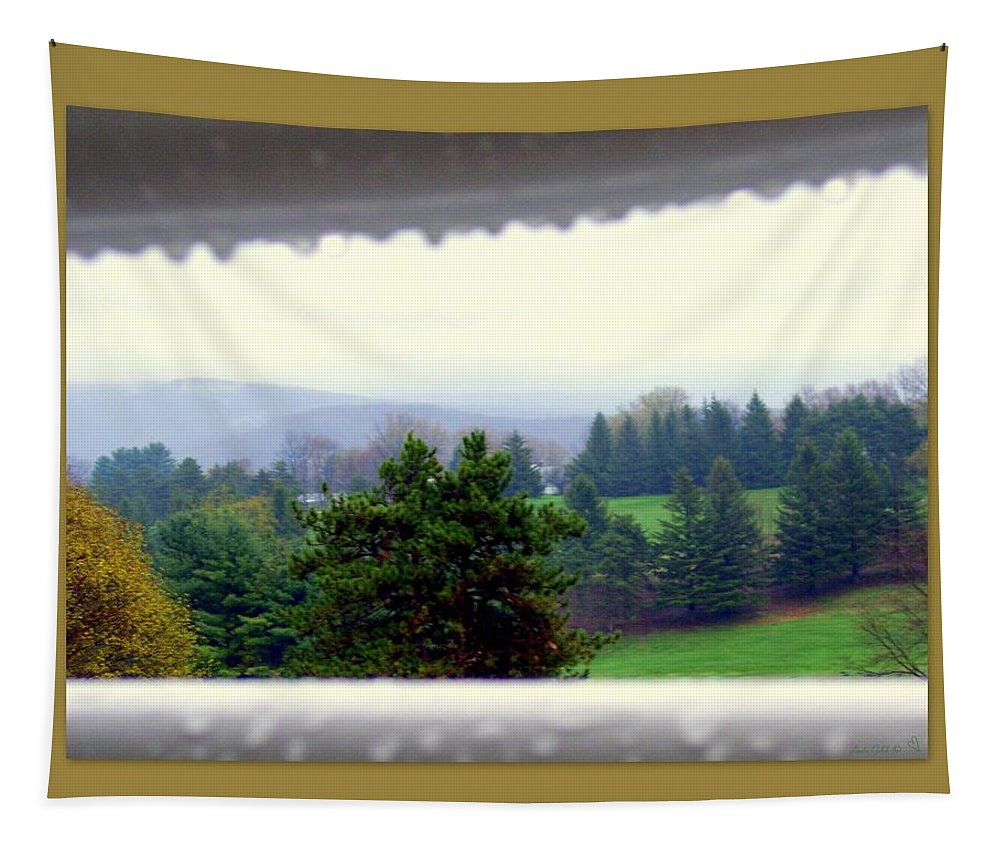 April Tapestry featuring the photograph April Showers by Linda Galok