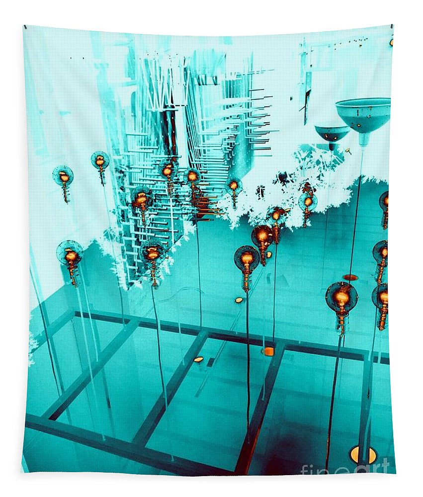 200 Views Tapestry featuring the photograph Aqua Reflections by Jenny Revitz Soper