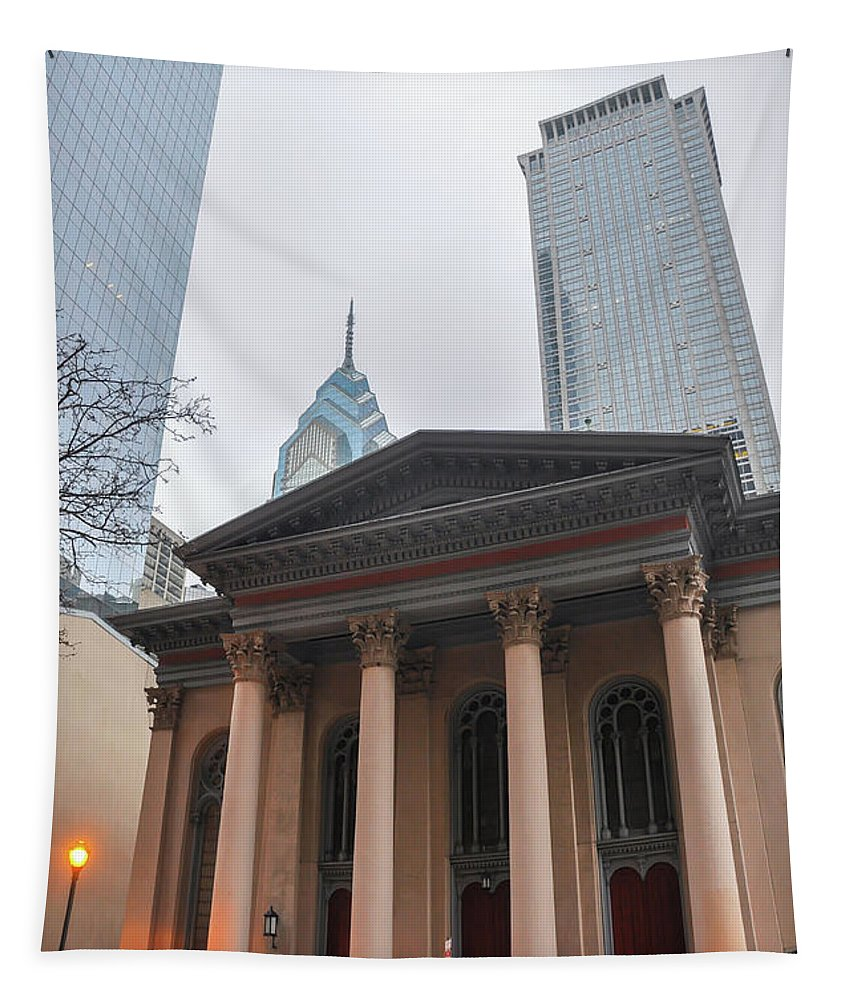 Arch Tapestry featuring the photograph Arch Street Presbyterian Church - Philadelphia by Bill Cannon