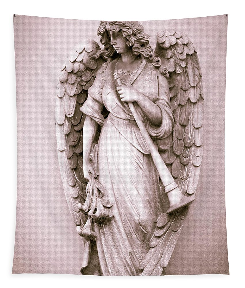Archangel Gabriel Tapestry featuring the photograph Archangel Gabriel by Dale Kincaid