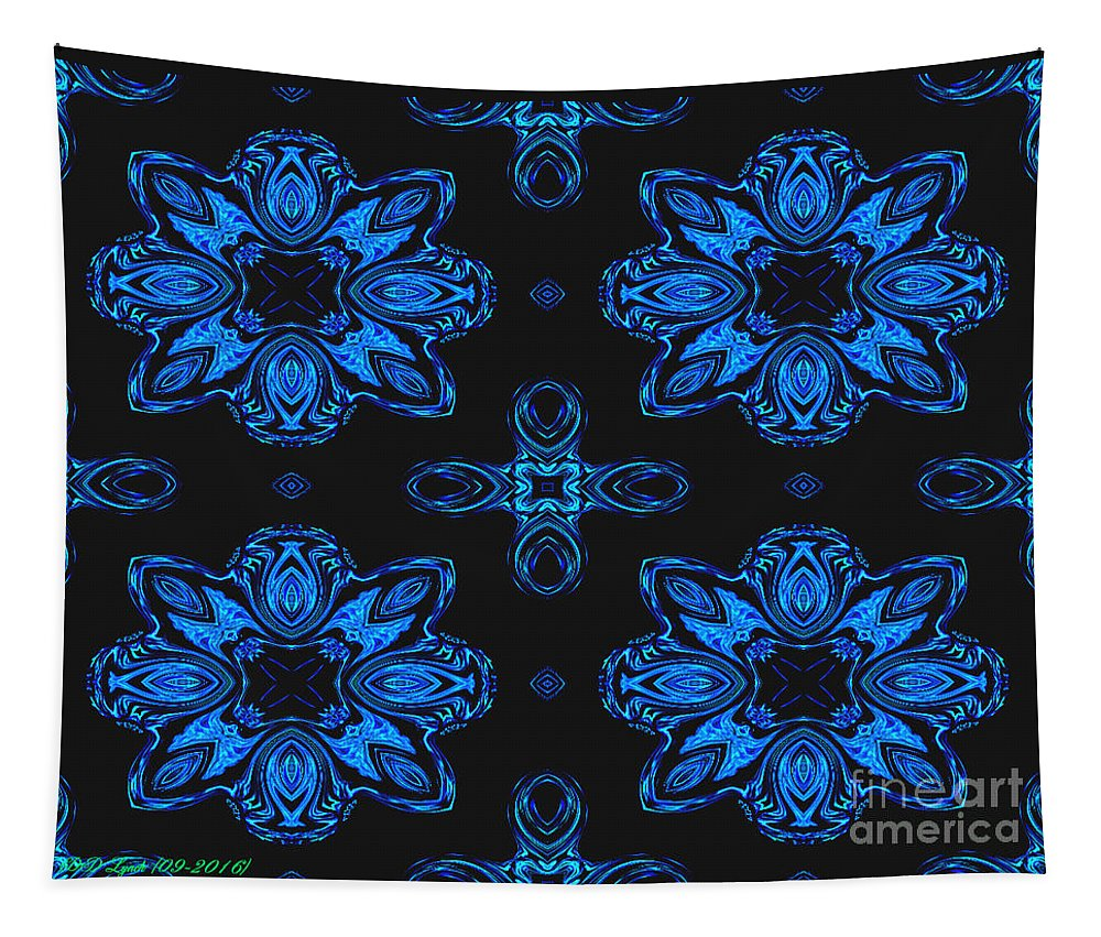 Blue Tapestry featuring the digital art Area Blue Abstract by Debra Lynch