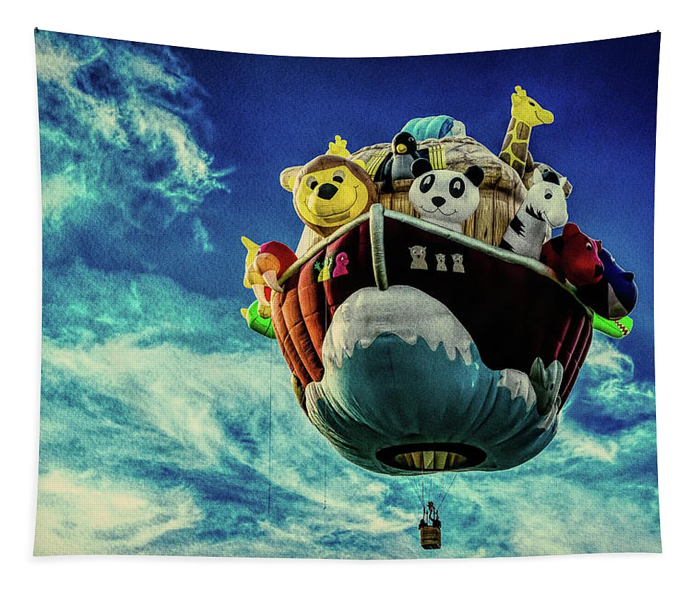 Arky Tapestry featuring the photograph Arky Noah's Ark by Bob Orsillo
