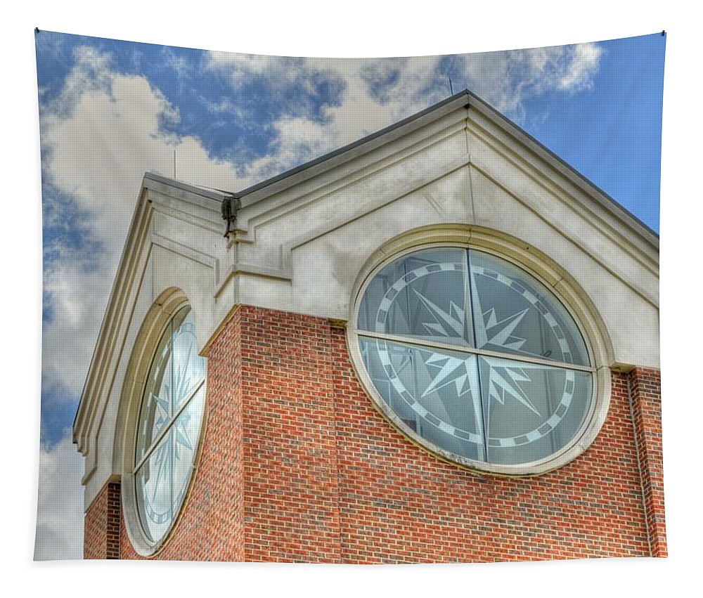 Armstrong University Tapestry featuring the photograph Armstrong University Tower by Linda Covino