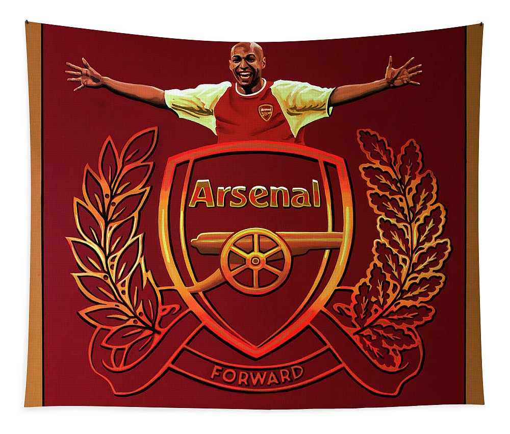 Arsenal Tapestry featuring the painting Arsenal London Painting by Paul Meijering