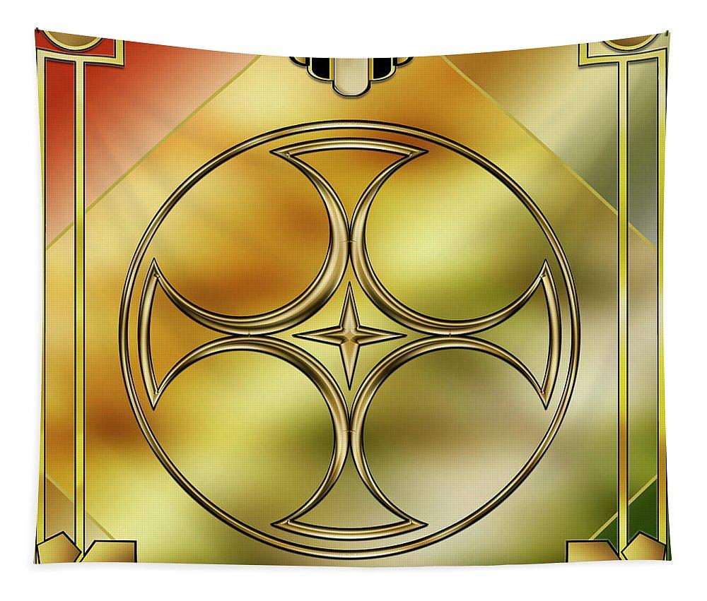 Art Deco Brass 3 Tapestry featuring the digital art Art Deco Brass 3 by Chuck Staley