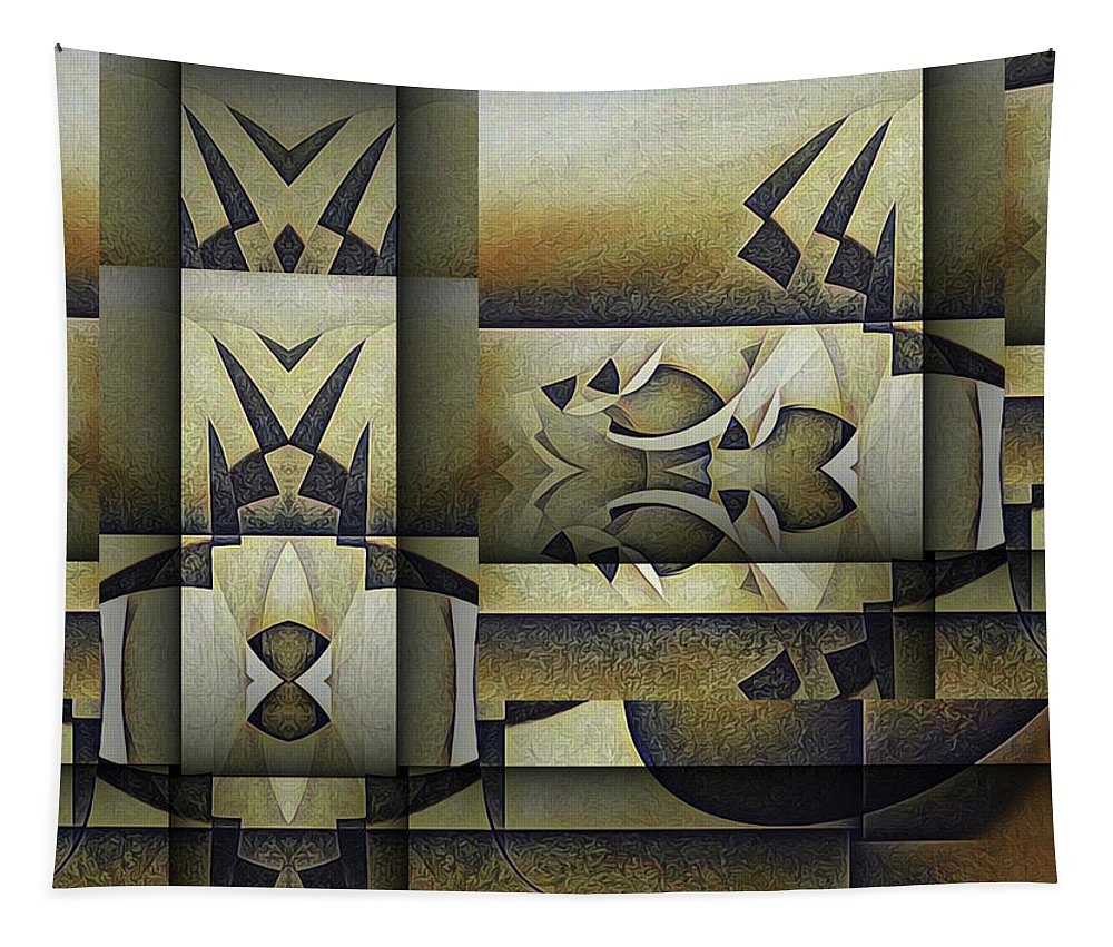 Tapestry featuring the painting Art From The Klingon Homeworld by Barry W King