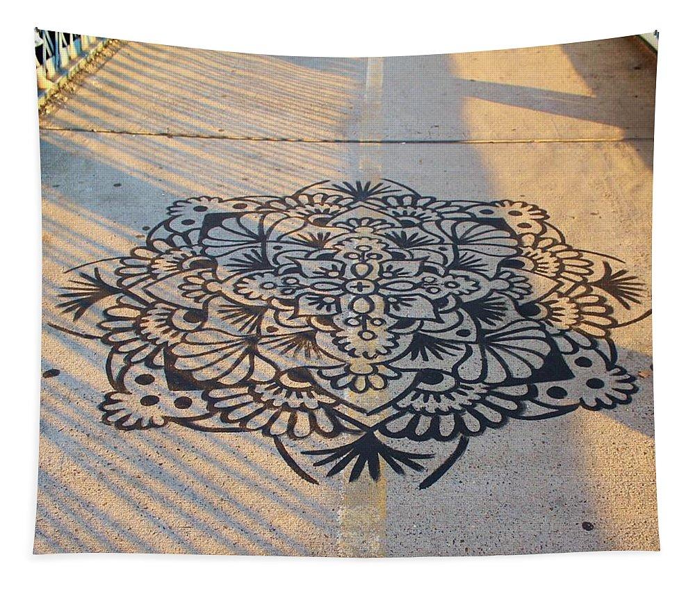 Karen Silvestri Tapestry featuring the photograph Art On Manhattan Bridge by Karen Silvestri