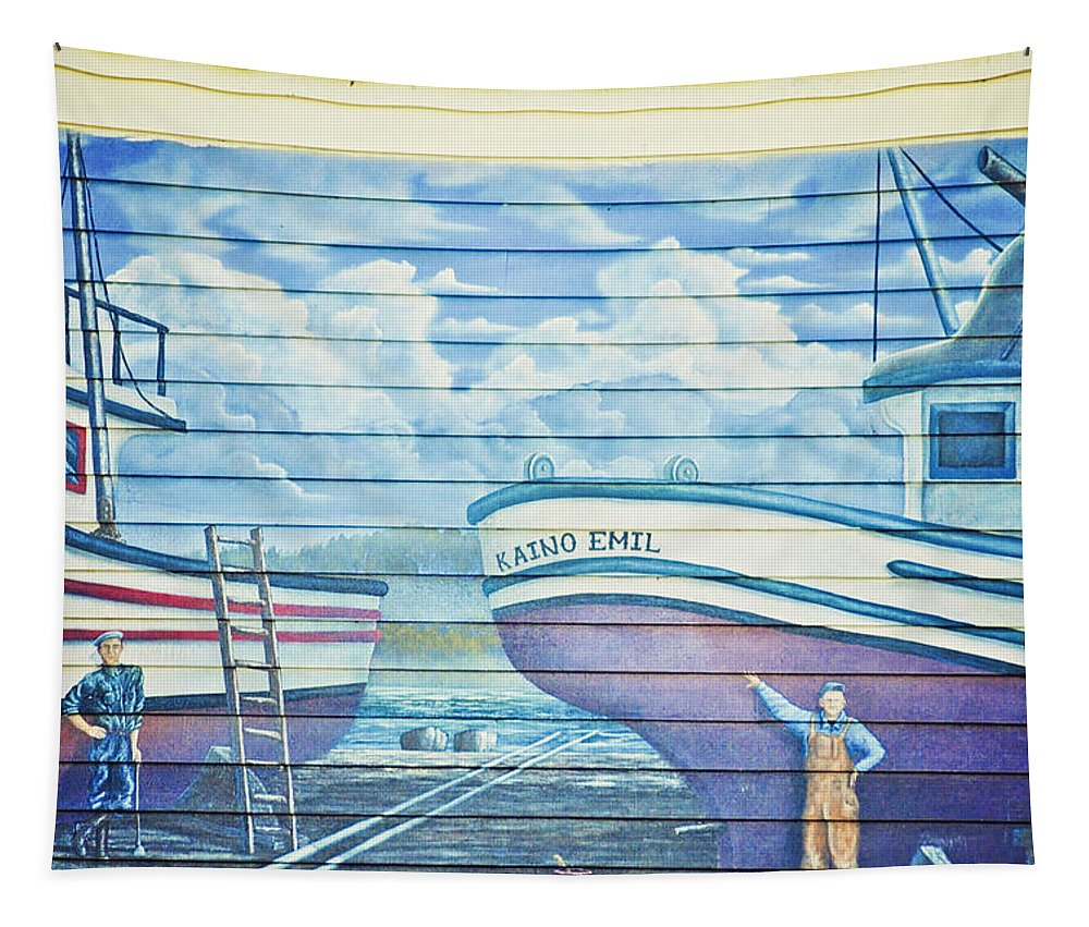Mural Tapestry featuring the photograph Art On The Bayfront 1 by Janie Johnson