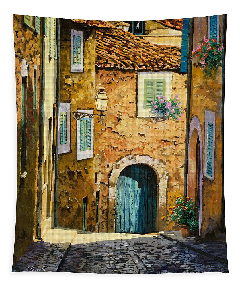 Landscape Tapestry featuring the painting Arta-mallorca by Guido Borelli