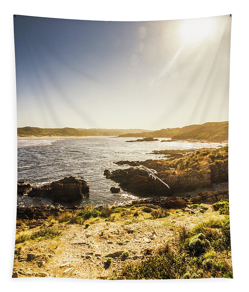 Arthur River Tapestry featuring the photograph Arthur River Tasmania by Jorgo Photography - Wall Art Gallery