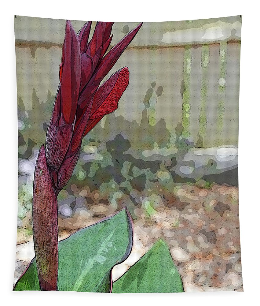Canna Lily Tapestry featuring the photograph Artistic Red Canna Lily by Aimee L Maher ALM GALLERY