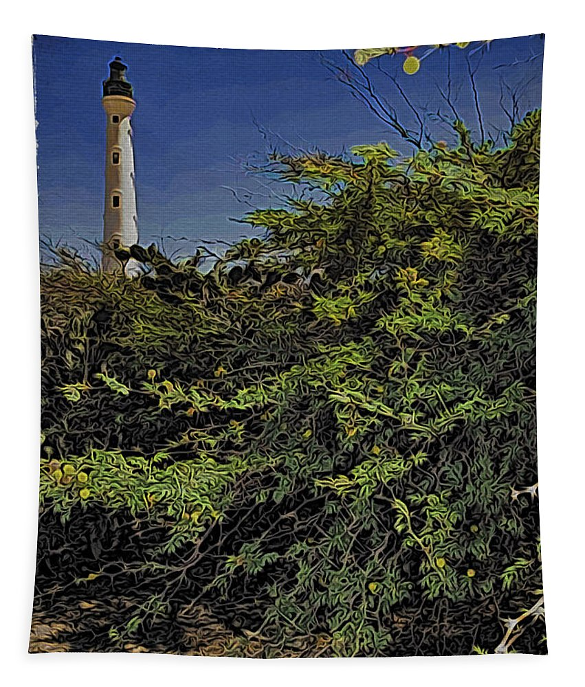 Alicegipsonphotographs Tapestry featuring the photograph Aruba Lighthouse by Alice Gipson