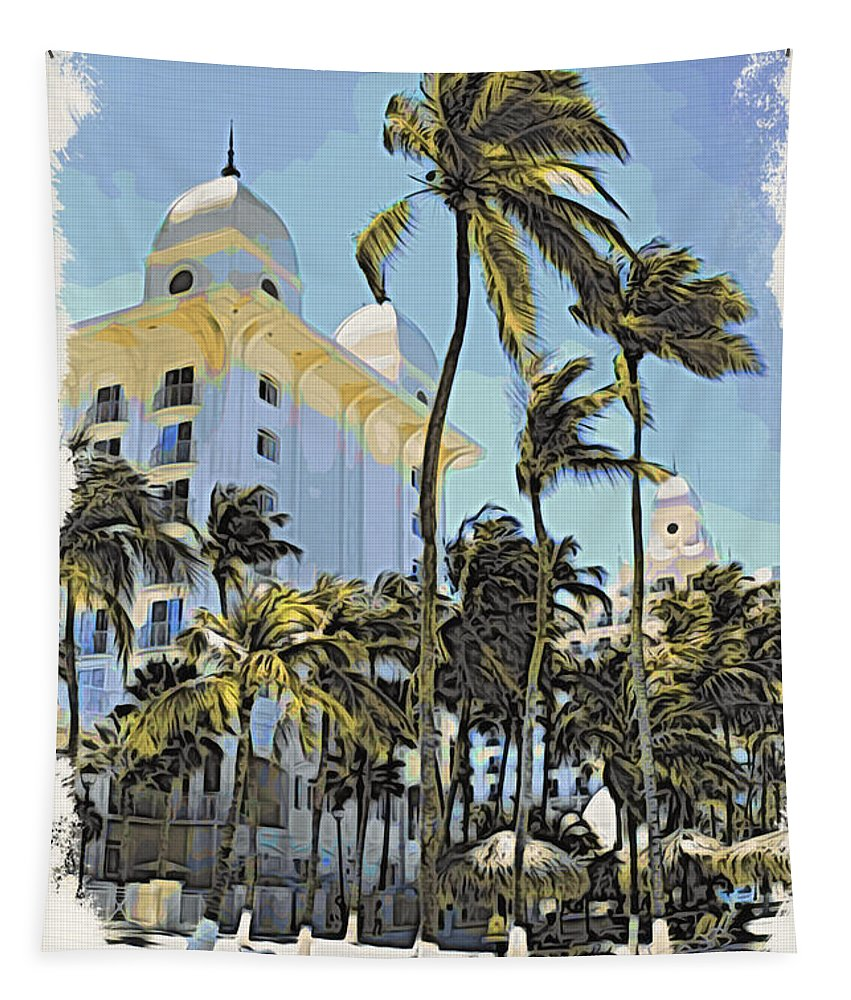 Alicegipsonphotographs Tapestry featuring the photograph Aruba Palms Two by Alice Gipson