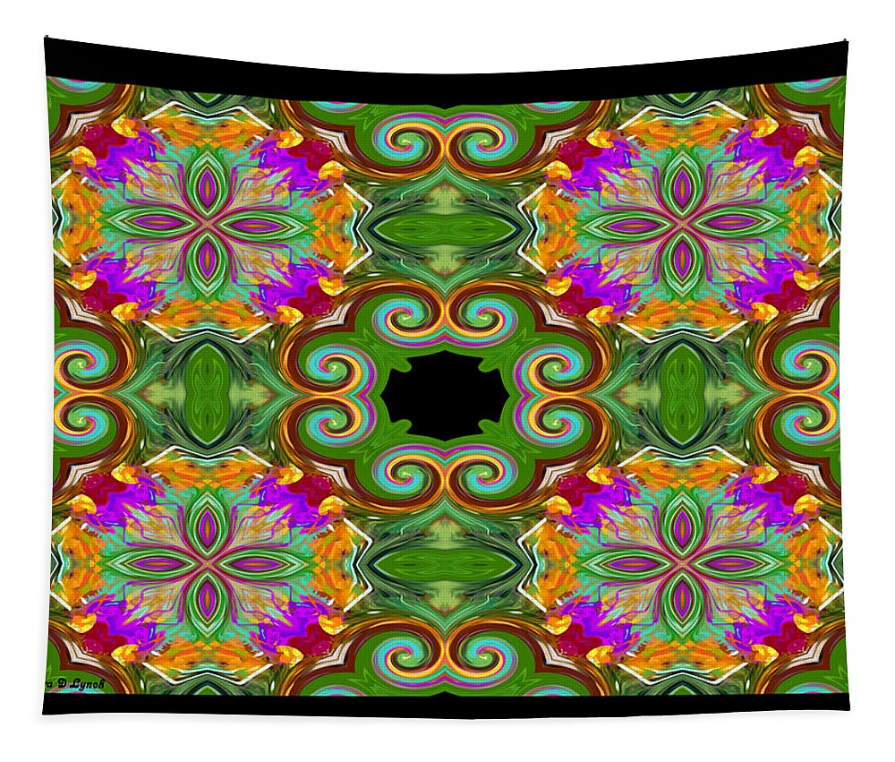 Digital Tapestry featuring the digital art As Luck Would Have It by Debra Lynch