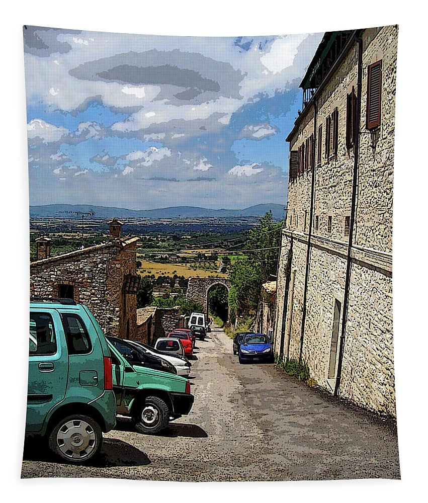 Assisi Tapestry featuring the photograph Assisi Italy I by Debbie Oppermann