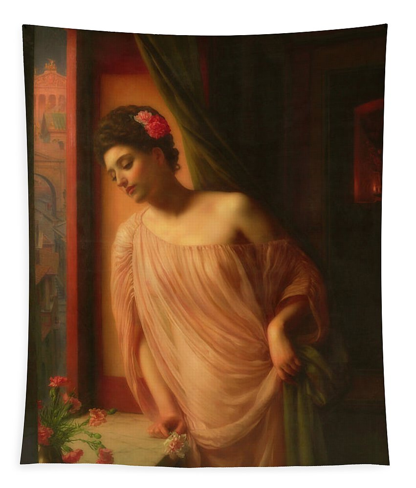 Painting Tapestry featuring the painting Asterie by Sir Edward John Poynter