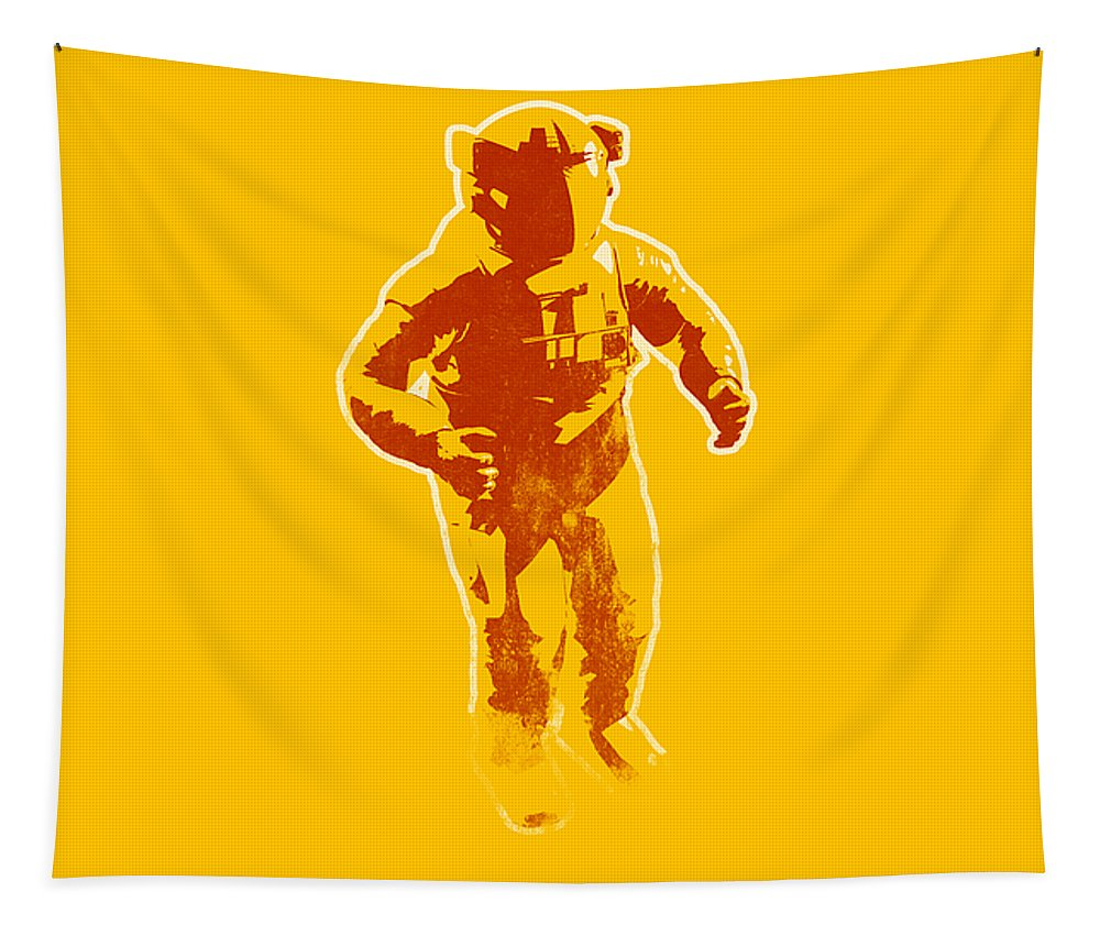 Banksy Tapestry featuring the photograph Astronaut Graphic by Pixel Chimp