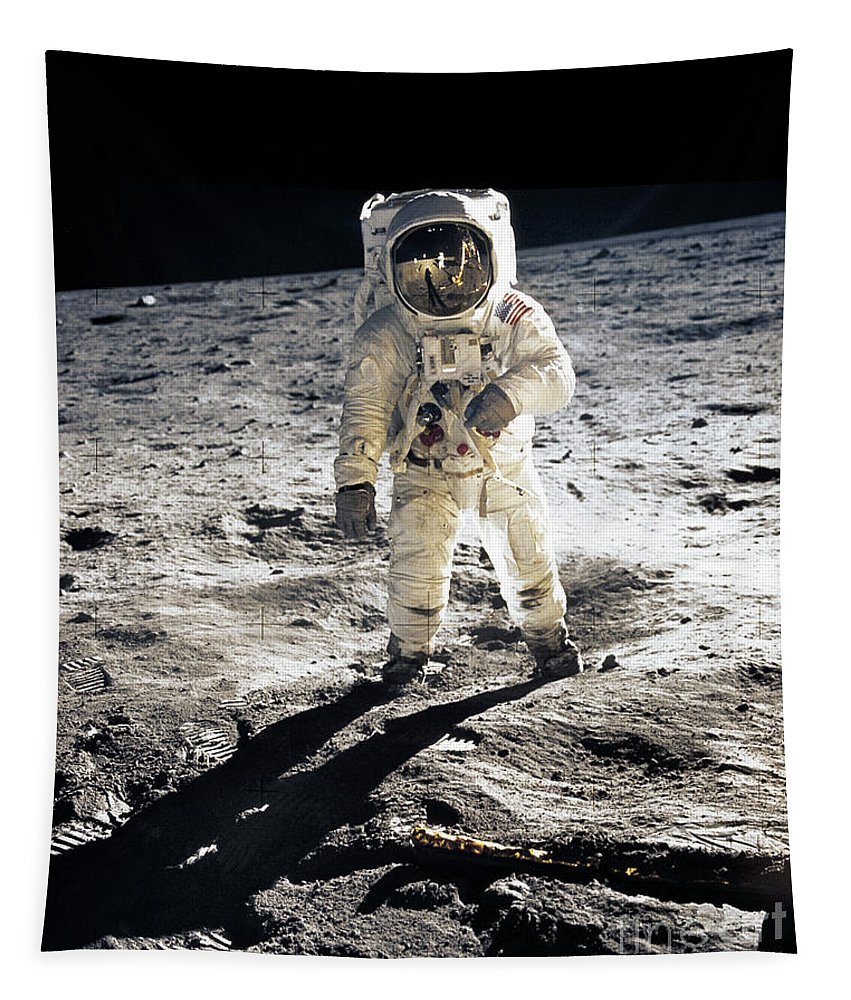 Apollo Tapestry featuring the photograph Astronaut by Photo Researchers