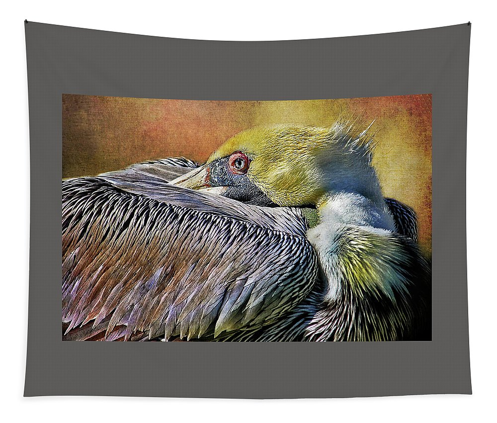Pelican Tapestry featuring the photograph At Rest by HH Photography of Florida