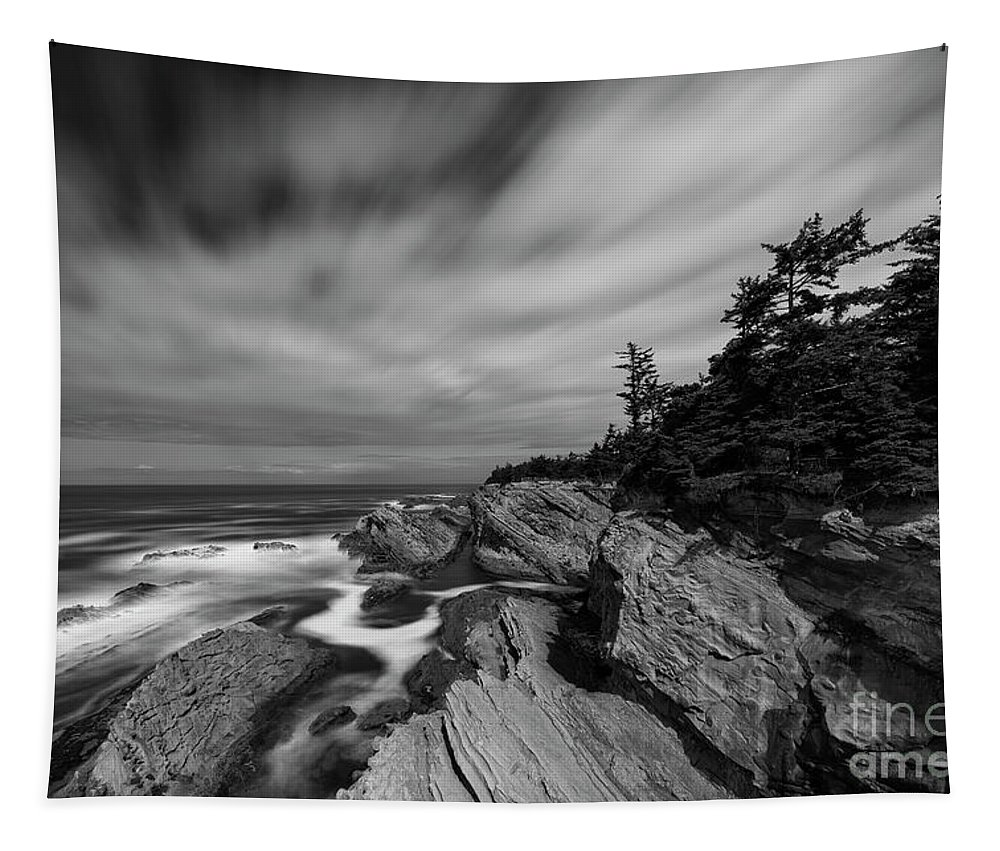 Ocean Tapestry featuring the photograph At Shore Acres State Park, Oregon by Masako Metz