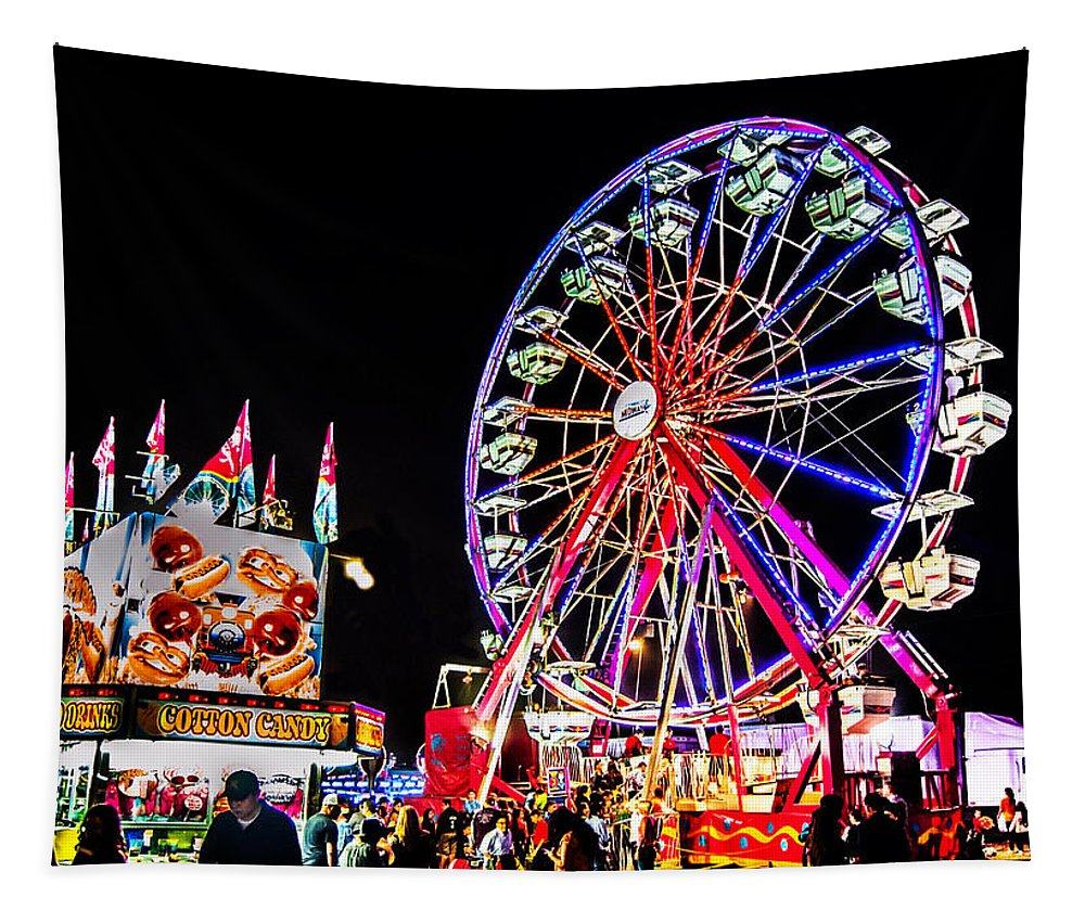 Blue Tapestry featuring the photograph At The Fair by Leticia Latocki