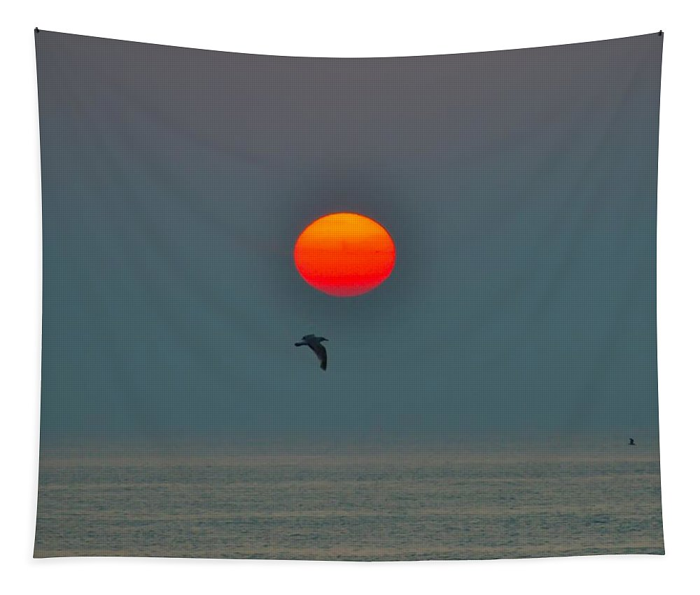 Atlantic City Tapestry featuring the photograph Atlantic City Sunrise by Bill Cannon