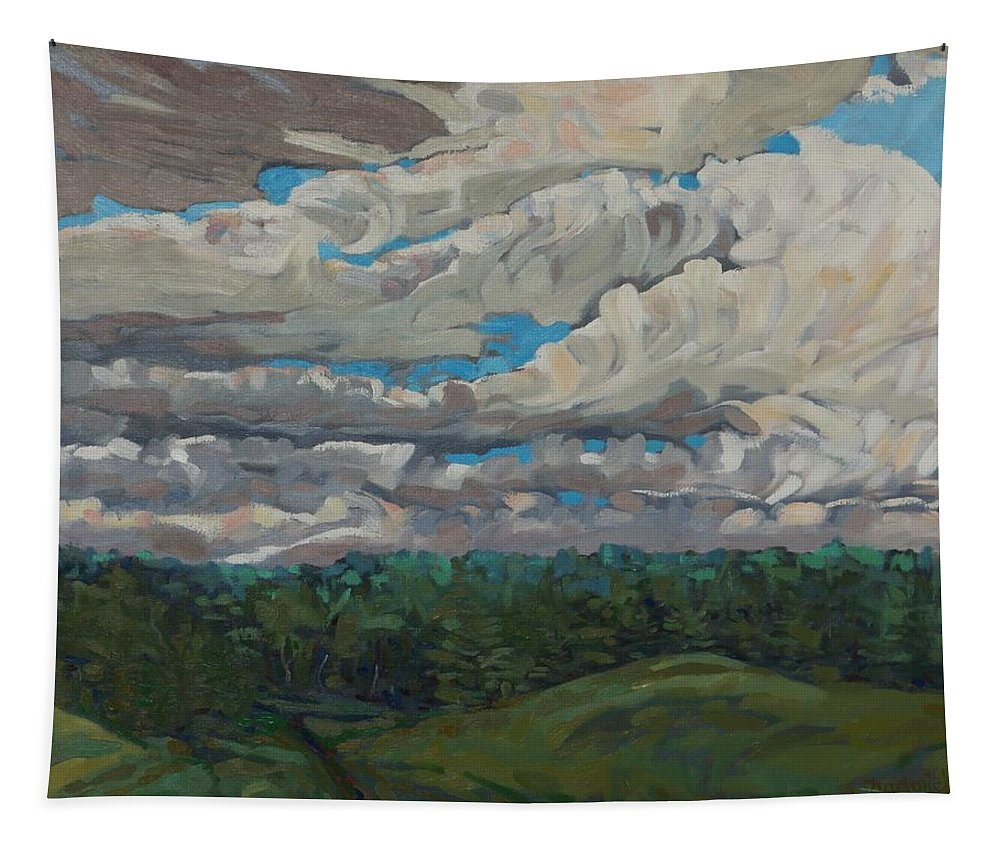 540 Tapestry featuring the painting August Convection by Phil Chadwick
