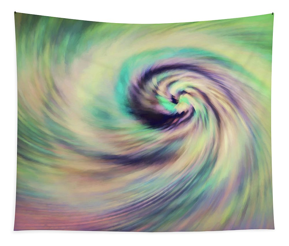 Abstract Tapestry featuring the digital art Aurora by Jon Woodhams