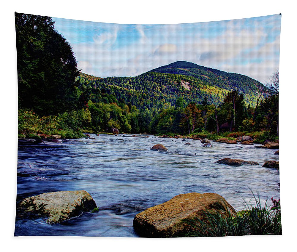 Ausable River Tapestry featuring the photograph Ausable And Whiteface by Tony Beaver