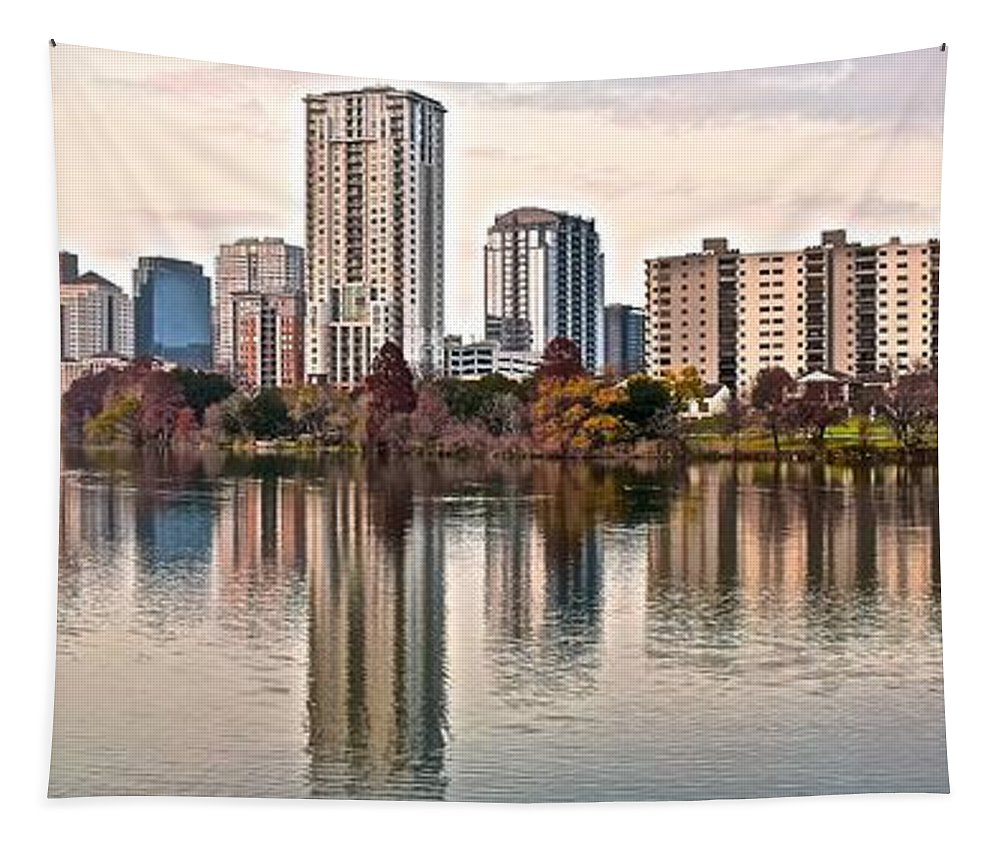 Austin Tapestry featuring the photograph Austin Elongated by Frozen in Time Fine Art Photography