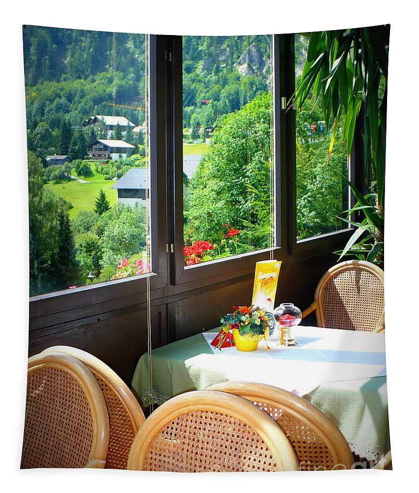 Austria Tapestry featuring the photograph Austrian Cafe by Carol Groenen