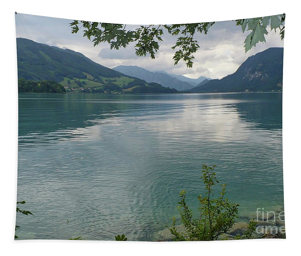 Austria Tapestry featuring the photograph Austrian Lake by Carol Groenen