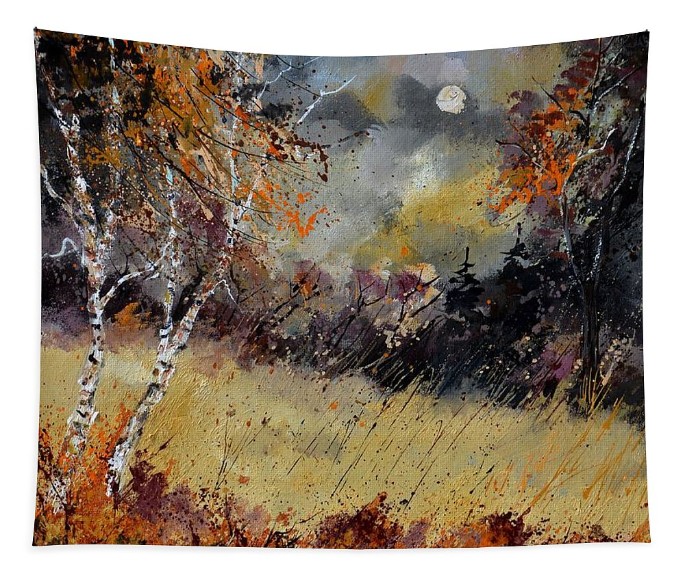 Landscape Tapestry featuring the painting Autumn 676101 by Pol Ledent