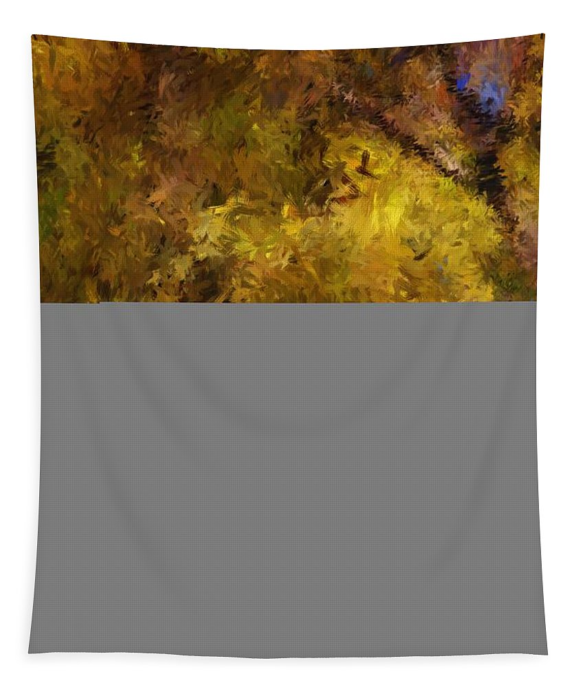 Abstract Digital Painting Tapestry featuring the digital art Autumn Abstract by David Lane