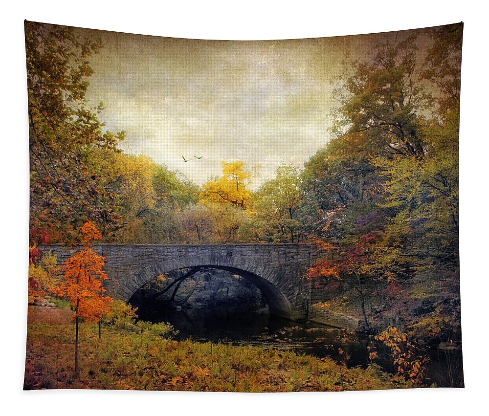 Nature Tapestry featuring the photograph Autumn Ambiance by Jessica Jenney